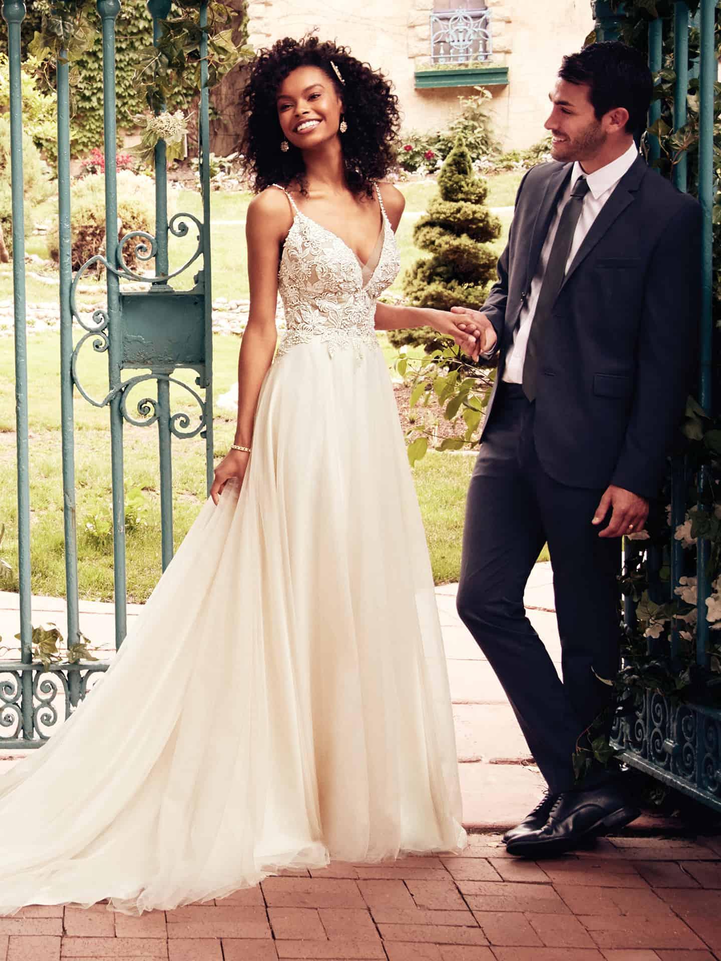 Eunice Wedding Dress Rebecca Ingram | tulle a-line lace wedding dress