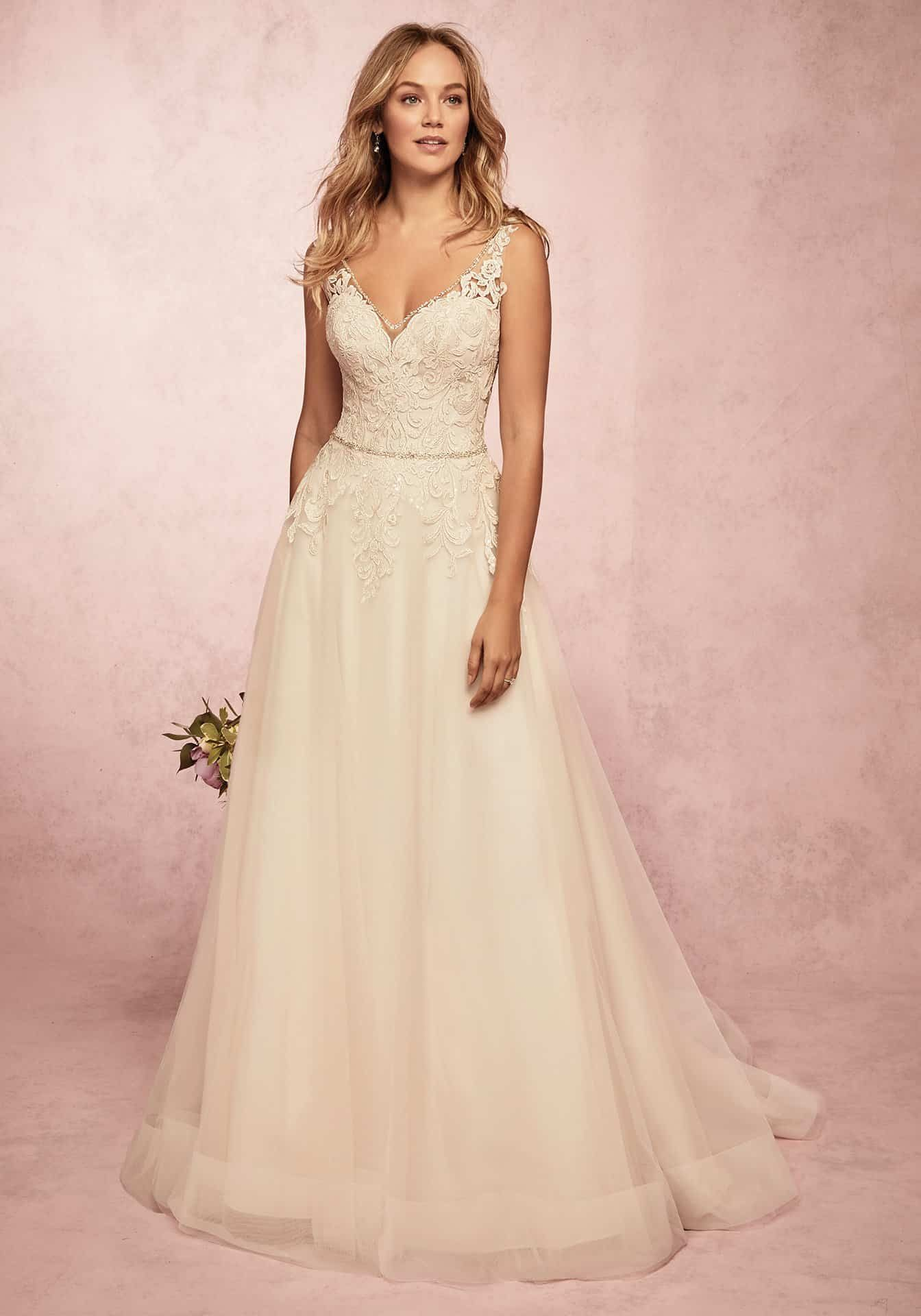 Gabi Wedding Dress Rebecca Ingram | tulle a-line lace wedding dress